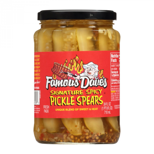 Famous Dave's Famous Dave's - Signature Spicy Pickle Spears 710ml