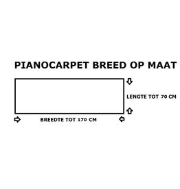 Pianocarpet Pianocarpet Breed op maat