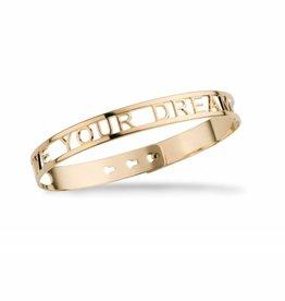 Mya Bay Armband - Live your dream - Goud / Zilver