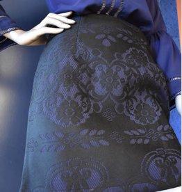 Lovie & Co Rok boudoir print Zwart/paars