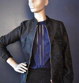 Lovie & Co Bomber jasje boudoir print Blauw/paars