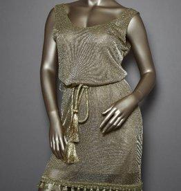 Roberta Biagi Jurk in  goud