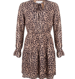 Jacky Luxury Leopard jurk met strik
