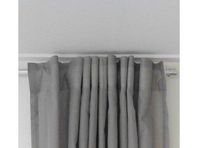 ophangsysteem rond aluminium profiel voor haken en ogen geschikt voor gordijnen en vitrages met plafond steunen sleepnl