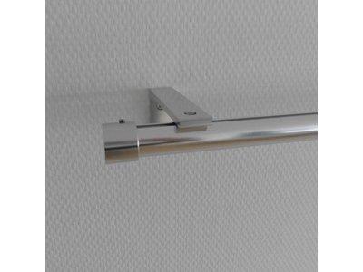 ophangsysteem rond aluminium profiel voor haken en ogen geschikt voor gordijnen en vitrages met wandsteunen sleepnl
