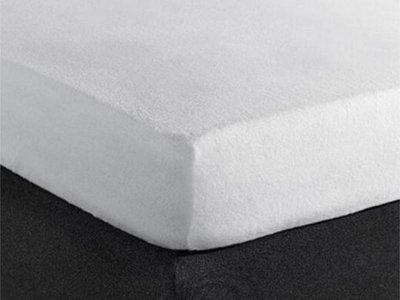 Molton Wit hoeslaken stretch