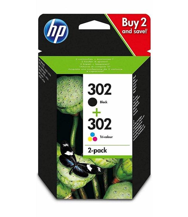 HP Kit Cartouche HP 302 Couleur + Noir