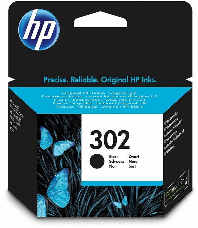 HP Cartouche HP 302 Noir