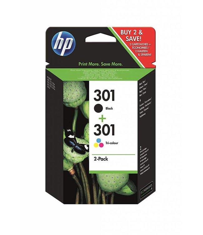 HP Kit Cartouche HP 301Couleur + Noir