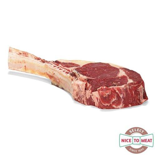 Dry Aged vlees van Hollands Weiderund Dry Aged Tomahawk Weiderund - 800gr