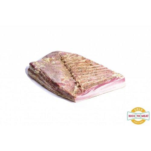 The Duke of Berkshire - Varkensvlees van topkwaliteit Traag gegaard Buikspek Duke of Berkshire - 2kg