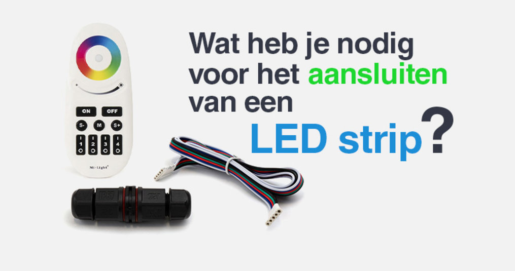 LED Strip aansluiten: onderdelen