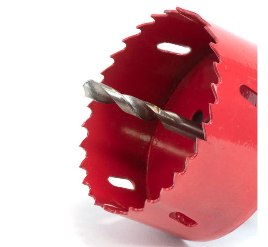 Gatenzaag universeel | HSS bi-metaal | Ø75mm | incl. gatzaaghouder