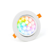 PURPL LED Inbouwspot | RGB+CCT | Ø135mm | Kantelbaar
