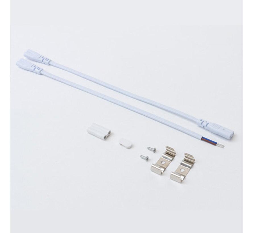 Montagebeugels en Connector Kabel | 220V | voor LED TL Armatuur