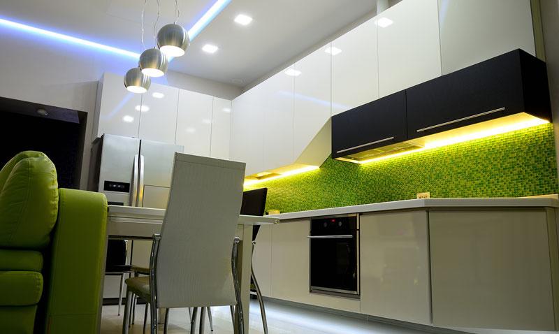 creatief led strips keuken