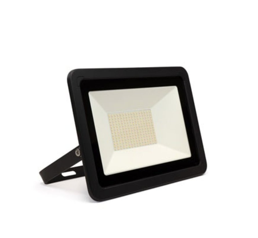 LED Bouwlamp Floodlight Zwart | 100W | Warm-, Helder- en Koud wit