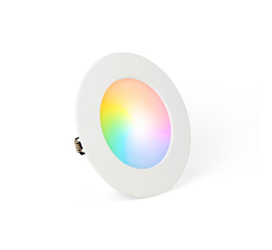 LED Downlight | RGB+CCT | Rond | Inbouw | Milight / Miboxer | 6W | ø120 mm | IP44
