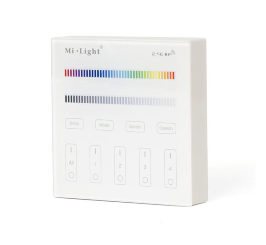LED Dimmer Touch | RGB(W) | 4-Zone | Batterij |  Milight / Miboxer