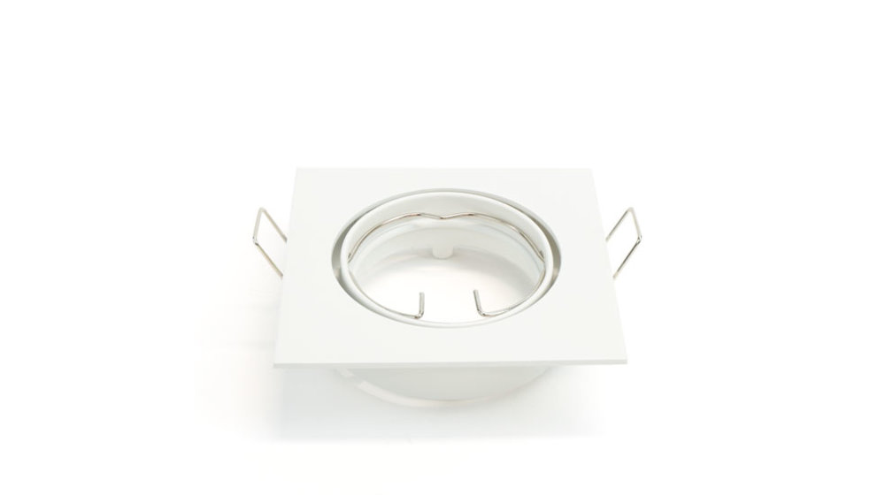 LED Spot  Armatuur GU10   IP20 (voor binnengebruik)   Vierkant   Wit