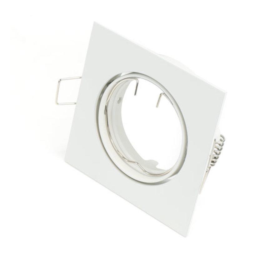 LED Spot  Armatuur GU10 | IP20 (voor binnengebruik) | Vierkant | Wit
