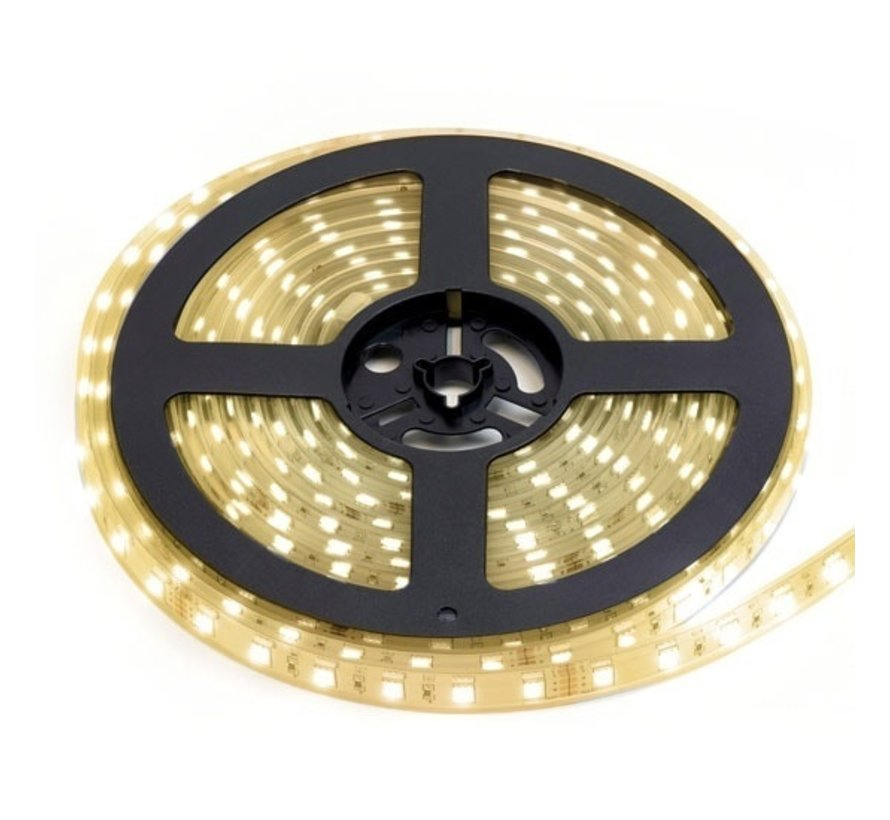 LED Strip Warm Wit | IP20 | 120 Leds p/m | 5 meter | 12V - 24V