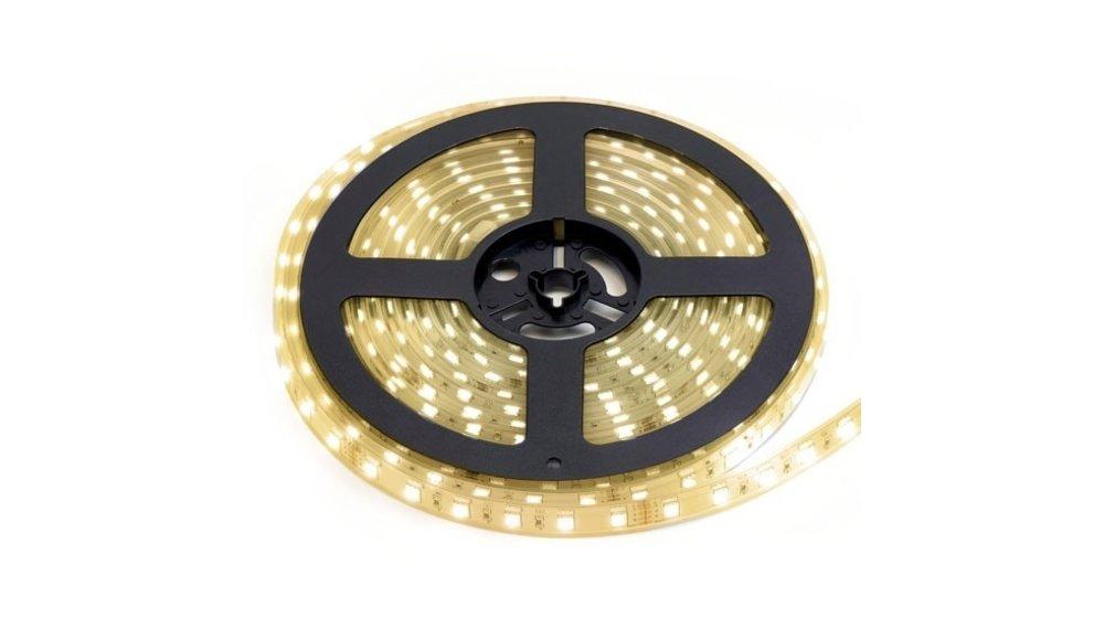 LED Strip Warm Wit | IP68 Waterdicht | 60 Leds p/m | 10 meter (2x 5 meter) | 24V
