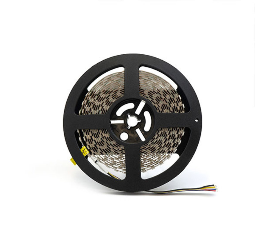 RGB+CCT LED Strip  | IP20 (voor binnen) | 20 Meter | 12V - 24V | Alle kleuren + wit