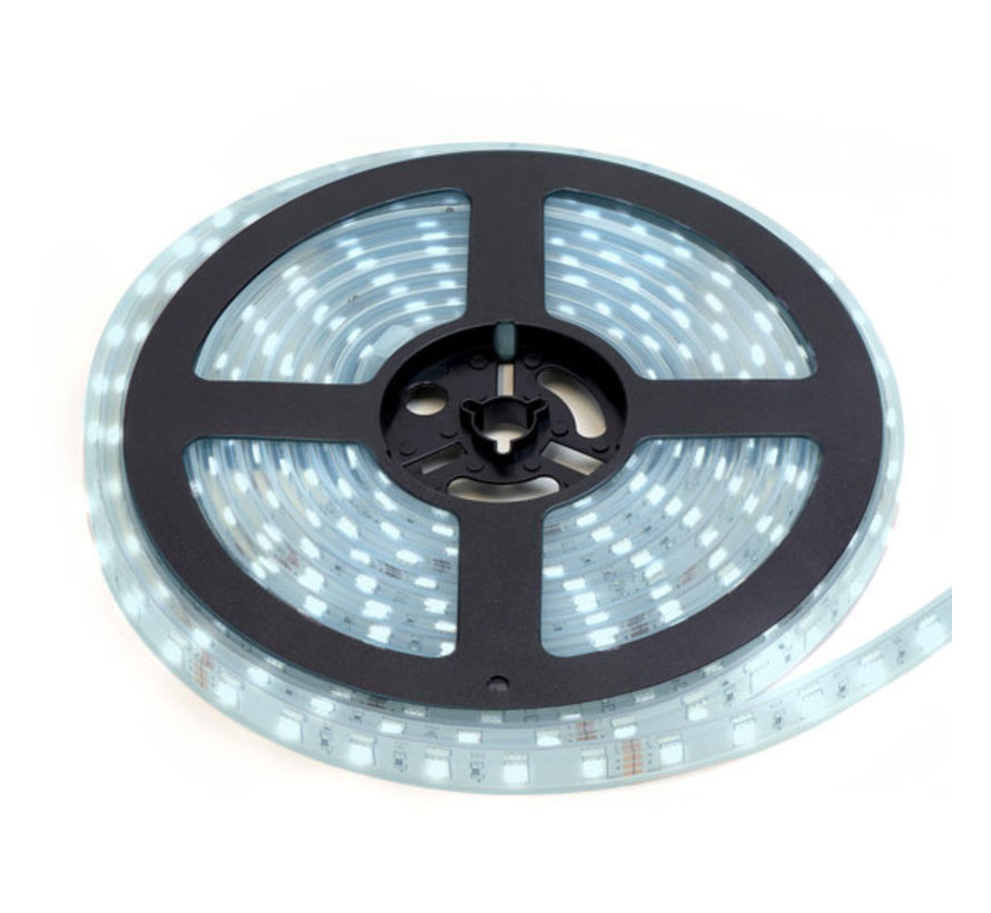 LED Strip Koud Wit | IP20 | 120 Leds p/m | 5 Meter | 12V - 24V