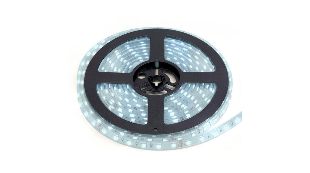 LED Strip Koud Wit   IP20   120 Leds p/m   10 Meter (2x 5 meter)   12V - 24V