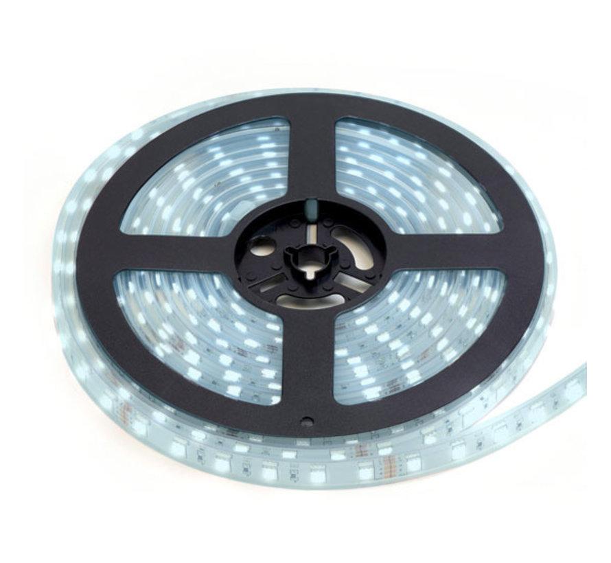 LED Strip Koud Wit   IP20   120 Leds p/m   10 Meter   12V - 24V