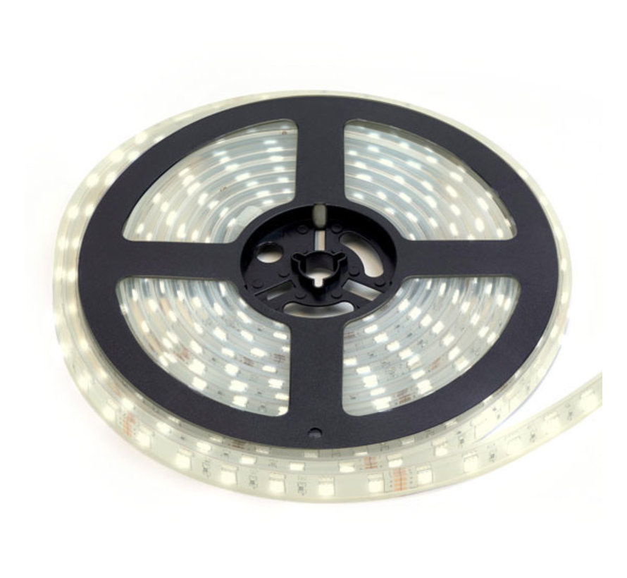 LED Strip HelderWit | IP68 Waterdicht | 60 Leds p/m | 5 meter | 12V - 24V