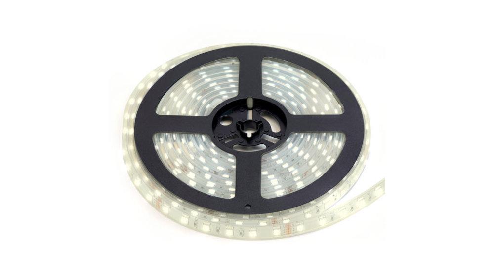 LED Strip HelderWit | IP68 Waterdicht | 60 Leds p/m | 10 meter (2x 5 meter) | 12V - 24V