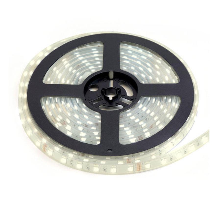 LED Strip HelderWit | IP68 Waterdicht | 60 Leds p/m | 10 meter | 12V - 24V