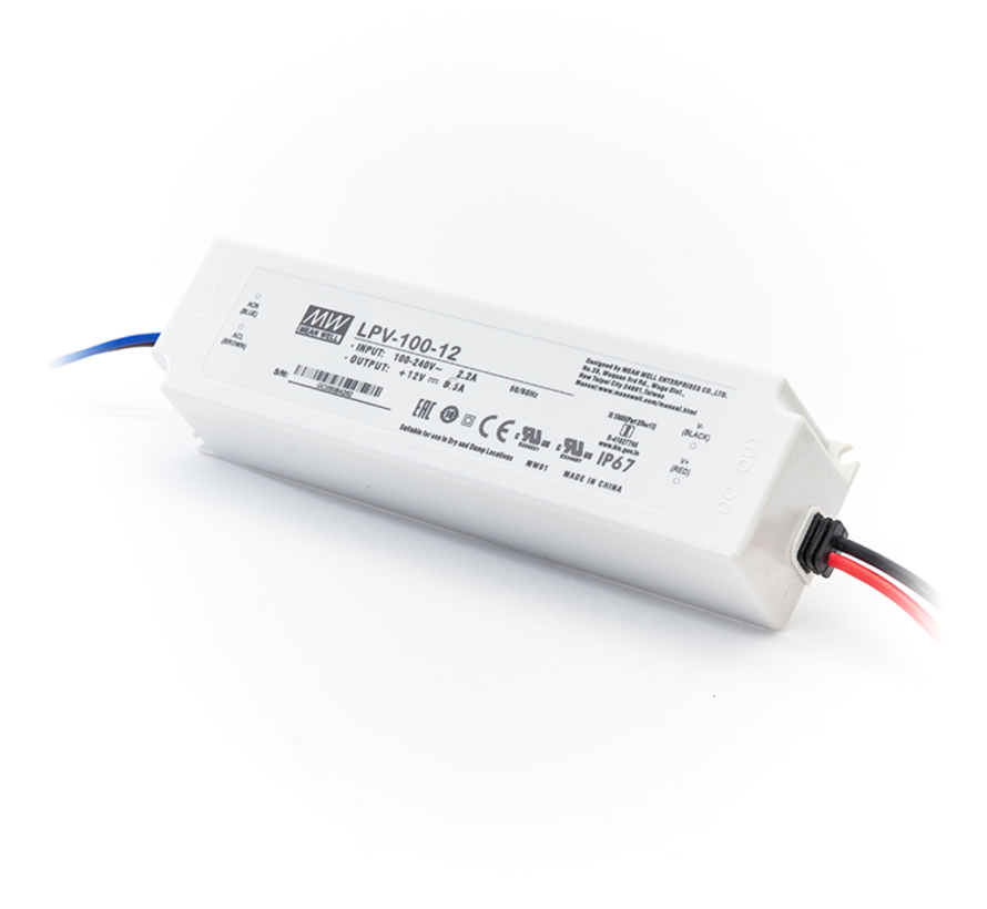 LED Driver Meanwell Voeding 100W | 12V - 24V | 8,5A - 4,2A