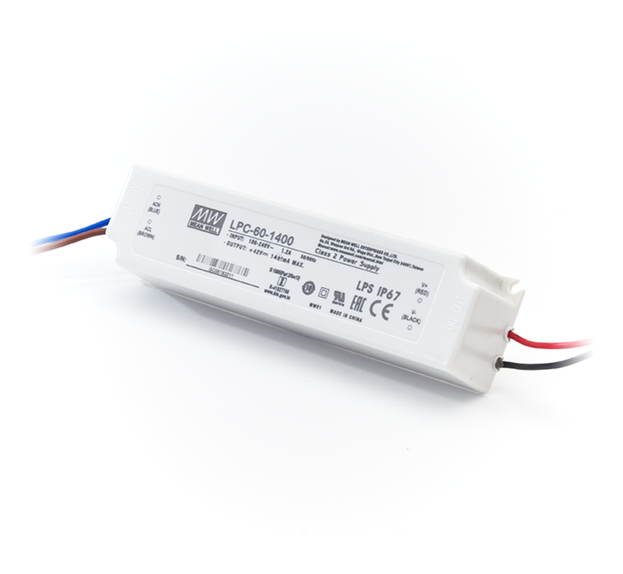 LED Driver Meanwell Voeding 60W | 42V | 1,4A | Voor 60x120 LED Panelen