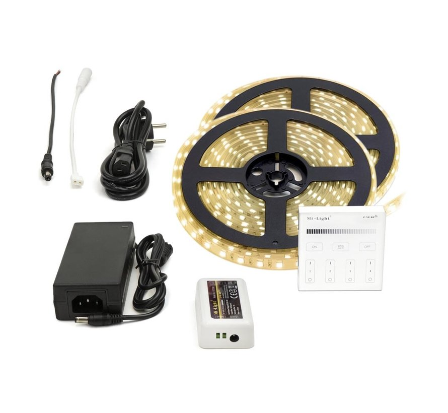 LED Strip Warm Wit | IP20 | 60 Leds p/m | 10 meter (2x 5 meter) | 12V - 24V