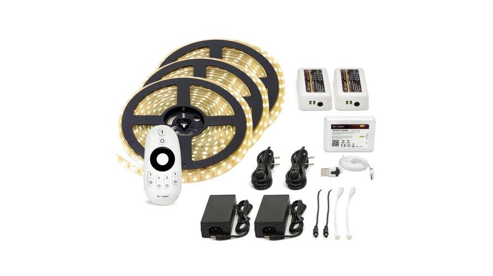 LED Strip Warm Wit | IP20 | 60 Leds p/m | 15 meter (3x 5 meter) | 12V - 24V