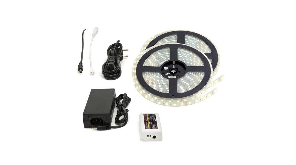 LED Strip Helder Wit | IP20 | 60 Leds p/m | 10 meter (2x 5 meter) | 12V - 24V