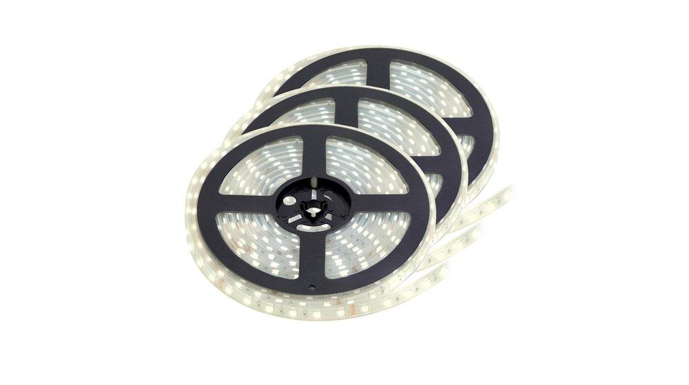 LED Strip Helder Wit | IP20 | 60 Leds p/m | 15 meter (3x 5 meter) | 12V - 24V