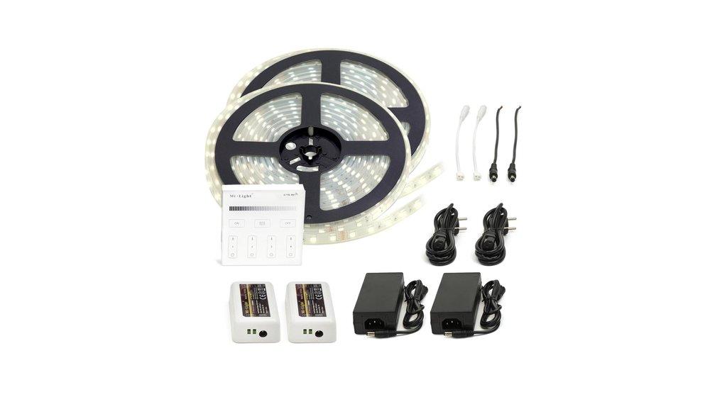 LED Strip Helder Wit | IP20 | 120 Leds p/m | 10 meter (2x 5 meter) | 12V - 24V