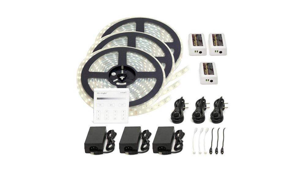 LED Strip Helder Wit | IP20 | 120 Leds p/m | 15 meter (3x 5 meter) | 12V - 24V