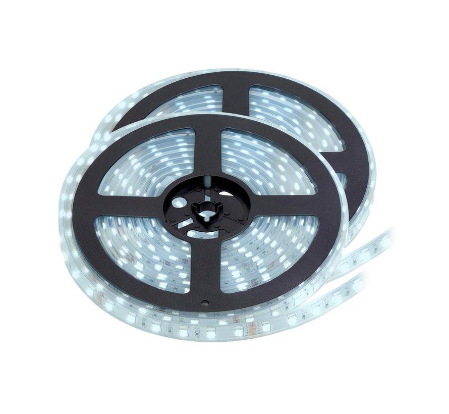 LED Strip Koud Wit | IP20 | 60 Leds p/m | 10 Meter (2x 5 meter) | 12V - 24V