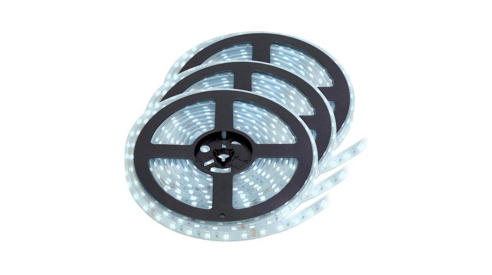 LED Strip Koud Wit   IP20   60 Leds p/m   15 Meter (3x 5 meter)   12V - 24V