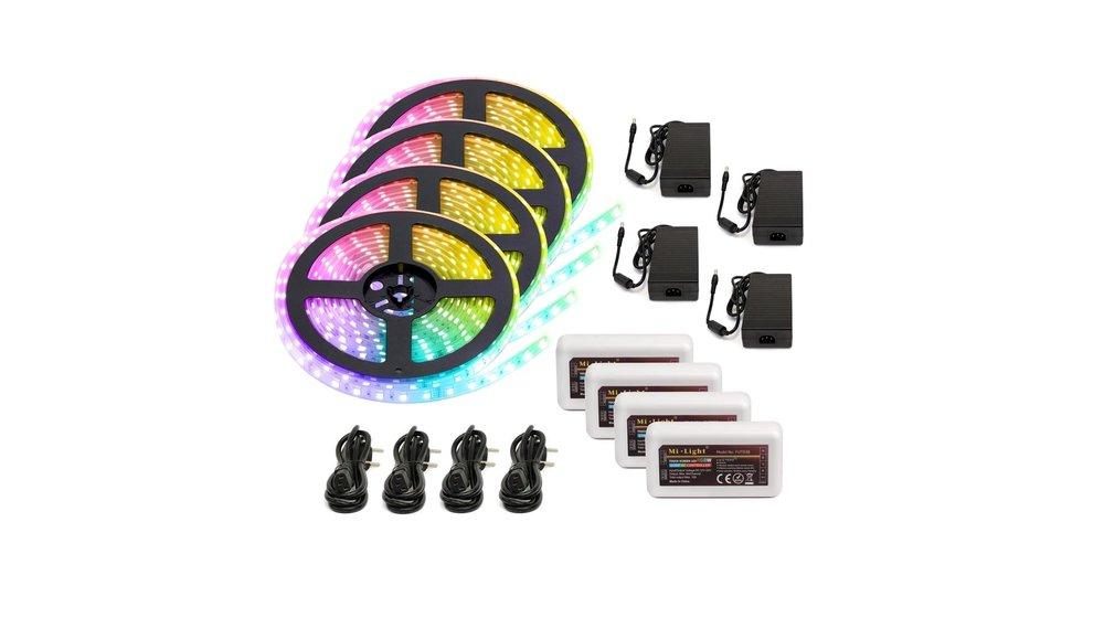 RGBW LED Strip  | IP20 (voor binnen) | 20 Meter (4x 5 meter) | 12V - 24V | Alle kleuren + Warm wit