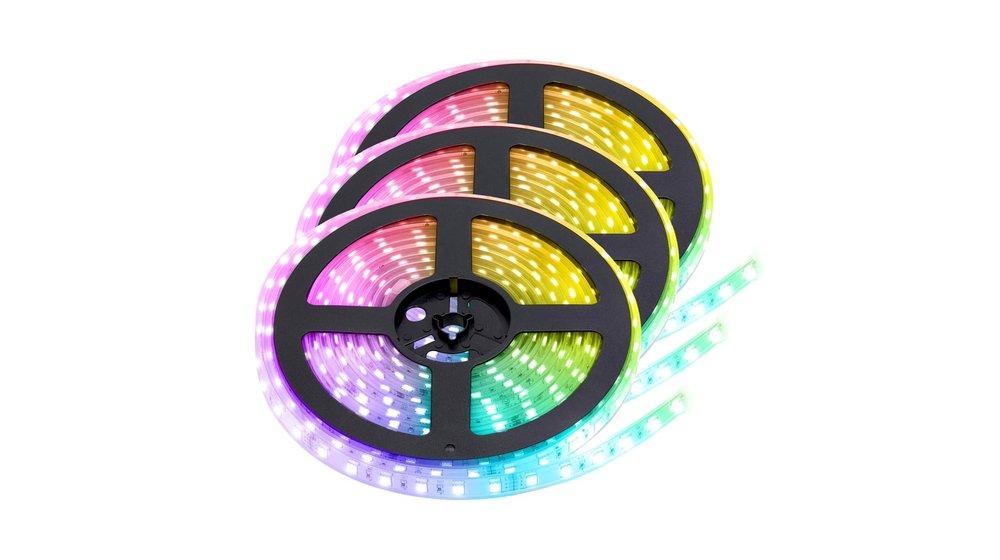 RGB+CCT LED Strip    IP68 (waterdicht)   15 Meter (3x 5 meter)   12V   Alle kleuren + wit