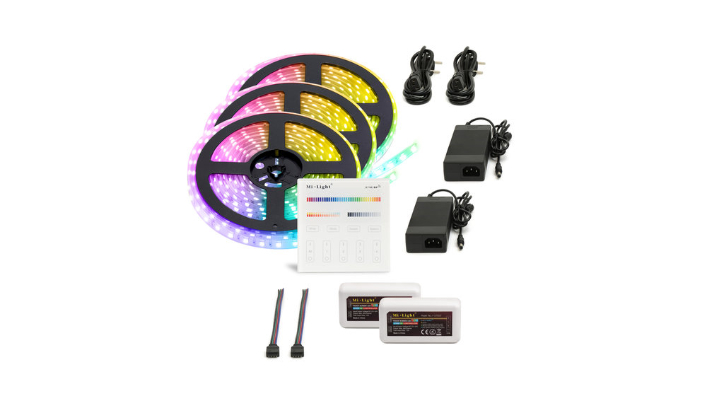 RGB LED Strip | IP20 (voor binnen) | 15 Meter (3x 5 meter) | 12V - 24V | Alle kleuren instelbaar