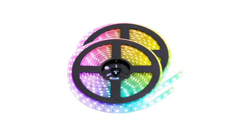 RGB+CCT LED Strip    IP68 (waterdicht)   10 Meter (2x 5 meter)   12V   Alle kleuren + wit