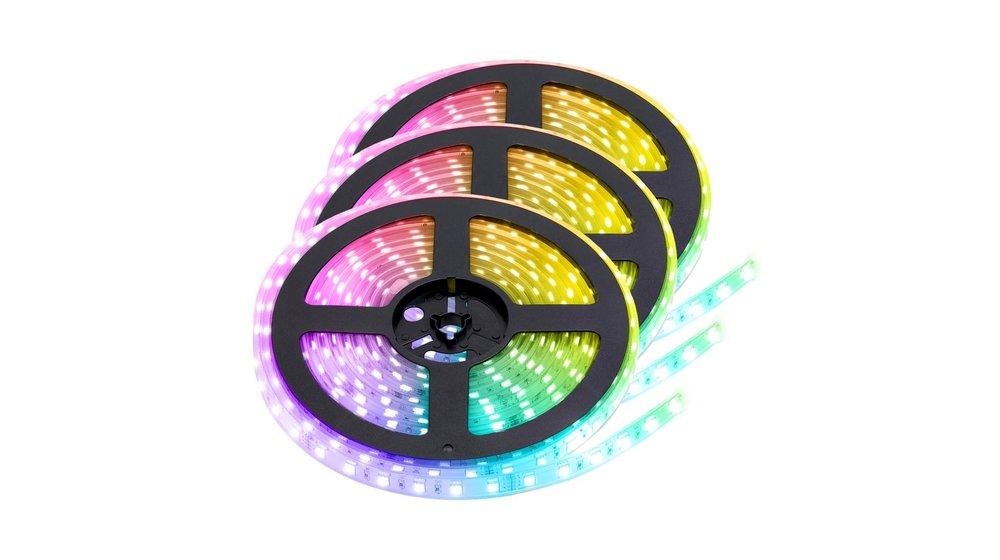RGB LED Strip   IP68 (waterdicht)   15 Meter   12V   Alle kleuren instelbaar