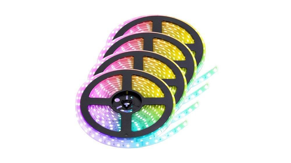 RGB LED Strip   IP68 (waterdicht)   20 Meter (4x 5 meter)   12V    Alle kleuren instelbaar